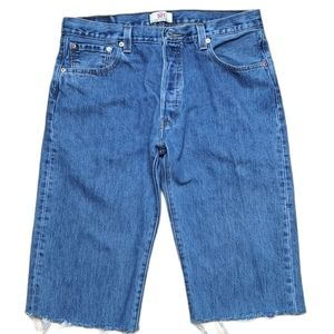 Levi's 501 Denim Jean Cutoff Shorts Straight Fit